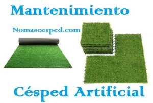 mantenimiento césped artificial